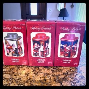 Holiday Portraits Stoneware Coca Cola canisters